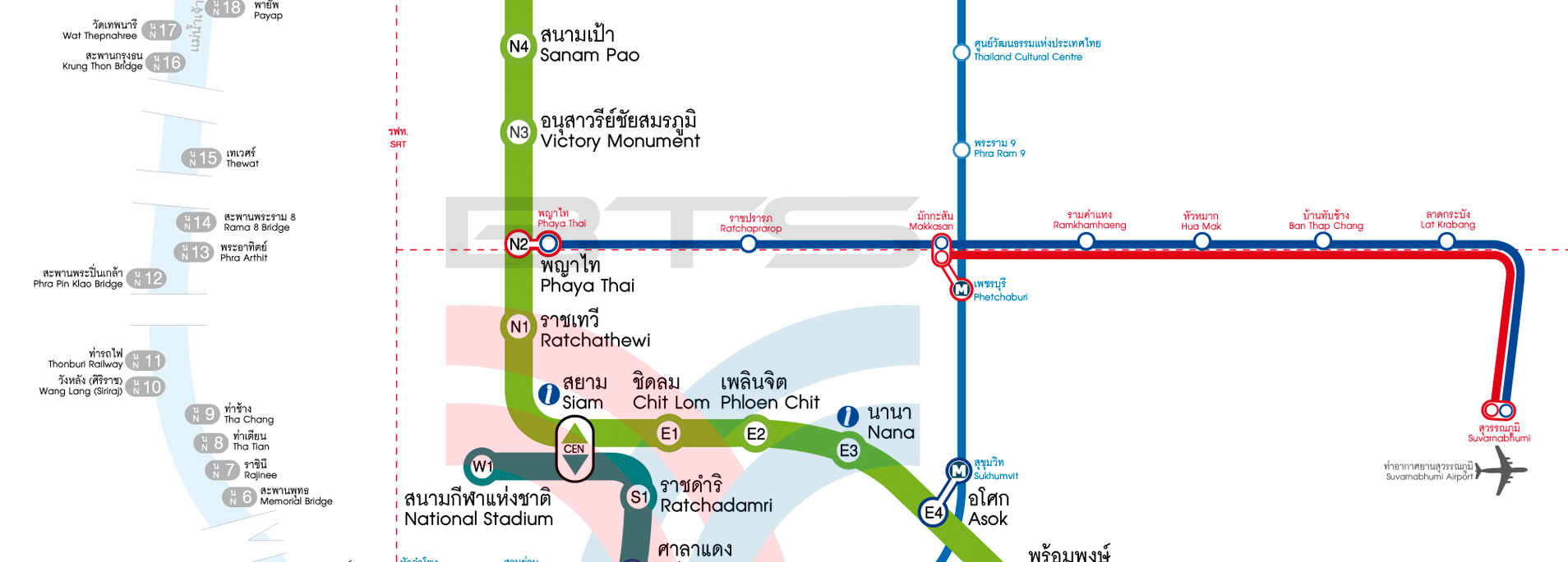 How to get from the Airports in Bangkok to city easily?